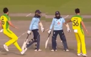 Mitchell Starc warns Adil Rashid to stay in his crease; video goes viral
